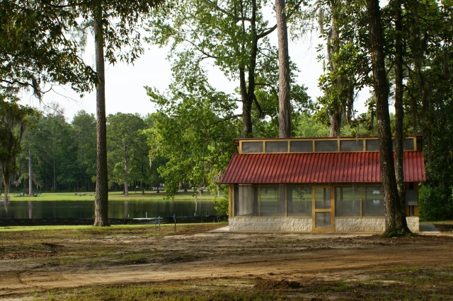 Three small picnic pavilions have been installed as part of an extensive renovation project at the Holbrook Outdoor Recreation Area at Fort Stewart.
