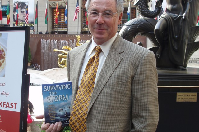 Larry Chambers on a recent book tour in New York.