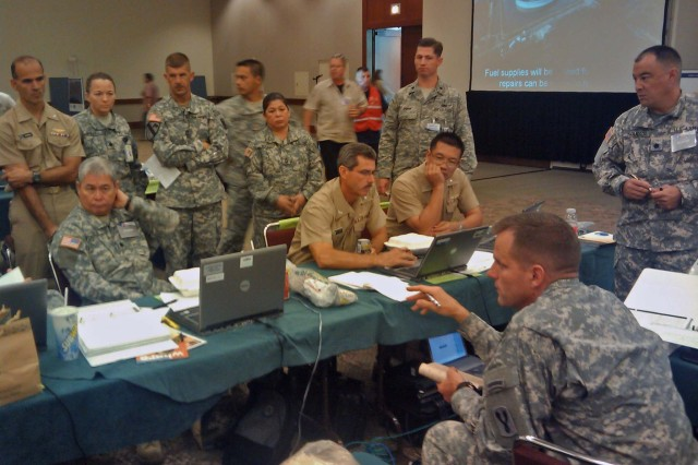 USARPAC's Joint Task Force Homeland Defense participates in hurricane preparedness exercise