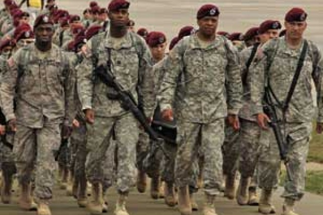 XVIII Airborne Corps Soldiers returning in April to Fort Bragg after a rotation in Iraq.