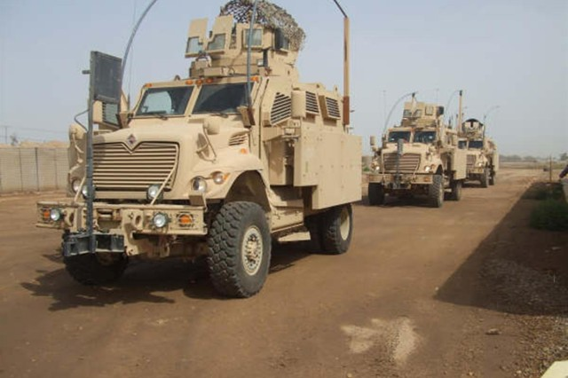 Lonestar State Sustainers train on MRAPs