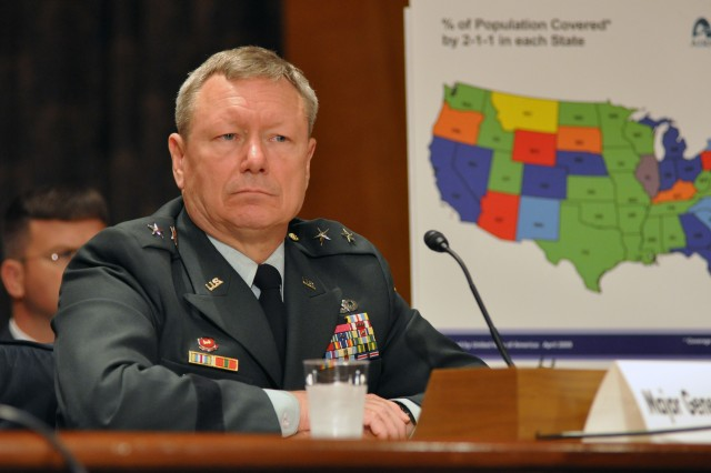 Maj. Gen. Frank Grass, director of operations for U.S. Northern Command, tells a Senate subcommittee that the National Guard and U.S. Northern Command stand ready to support civil authorities in the 2009 hurricane season, June 4, 2009.