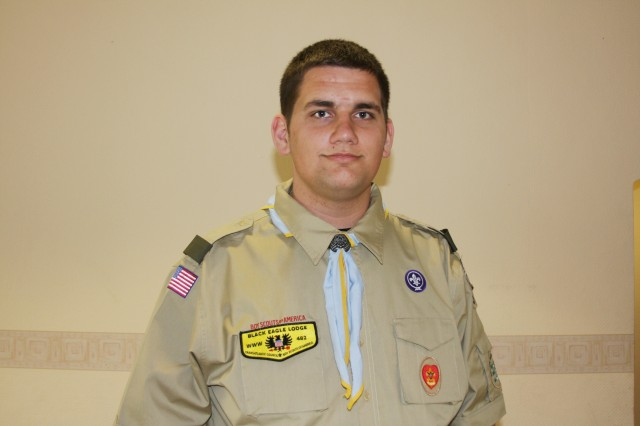 Larry Morgan, son of a Schweinfurt, Germany-based Soldier, recently earned the rank of Eagle Scout.