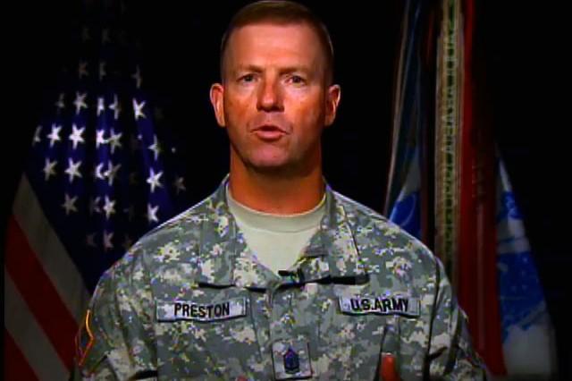 Army Birthday: Sgt. Maj. of the Army Preston