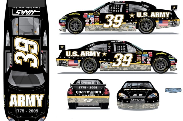 Artist's rendering of the 2009 Army birthday car.