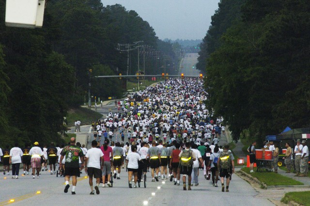 More than 1,800 participants crossed the start line on Fort Bragg's Longstreet Road at the beginning of the 13th Annual Fort Bragg Army Birthday 10-Mile Race Thursday.