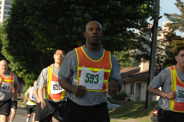 YONGSAN GARRISON, Republic of Korea - More than 500 Yongsan troops and supporting community members ran in a 5K fun run beginning outside Collier Field House 6:30 a.m. June 12.