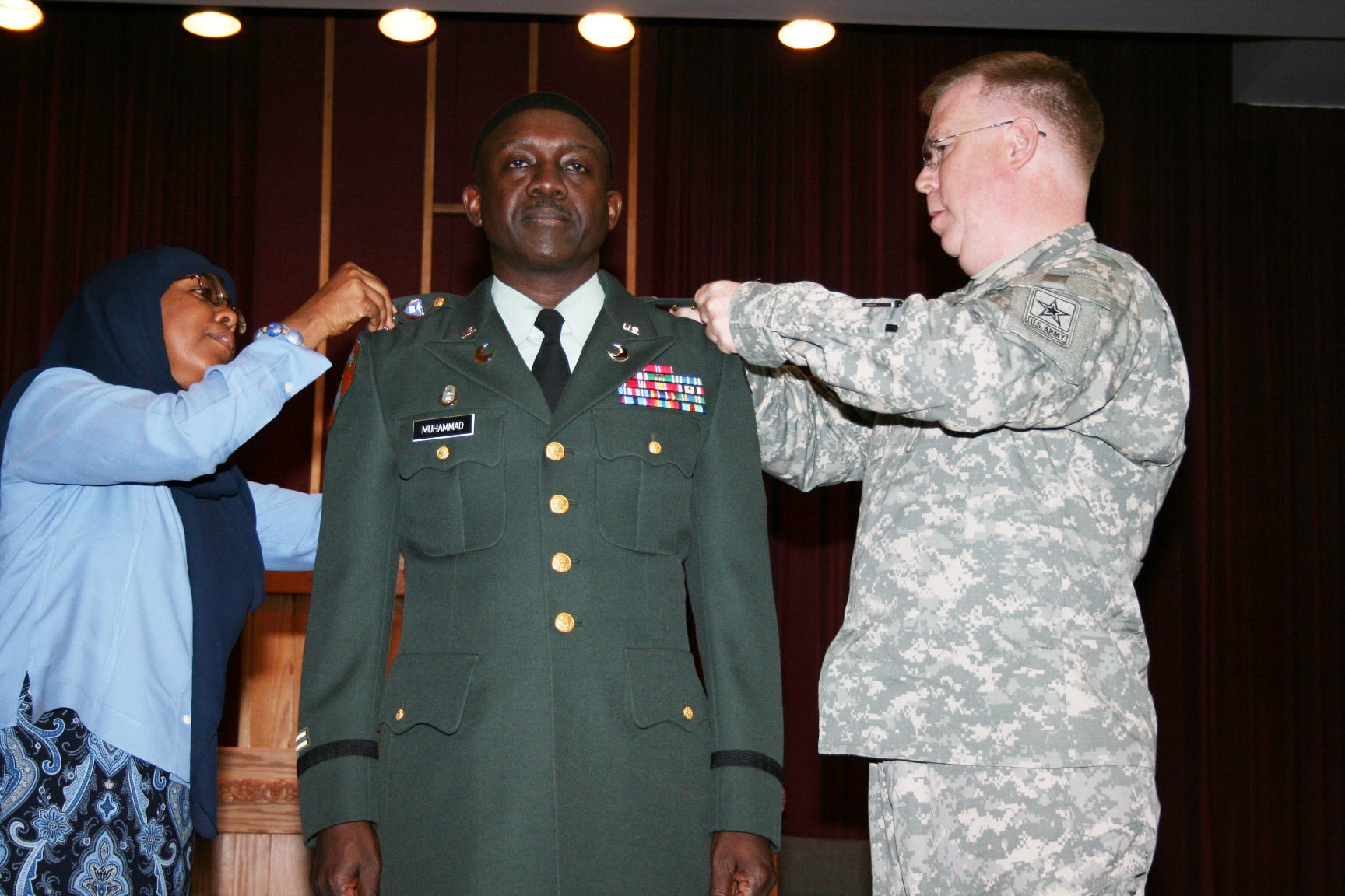 rutherford muslim Chaplain recalls path to making history  pinning on his new rank were his wife saleemah and brig gen donald rutherford, deputy chief of chaplains  before dod could accept muslim.