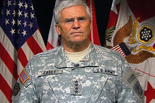 Video still: Chief of Staff Gen. Casey's Army Birthday message