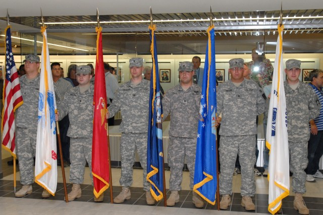 Several students attending the High Tech Regional Training Site - Maintenance attended and served as the color guard.