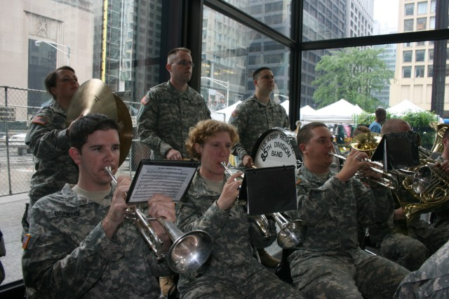 The 85th Army Band performs during the Army Birthday celebration in Daley Center, Chicago, June 11, 2009.