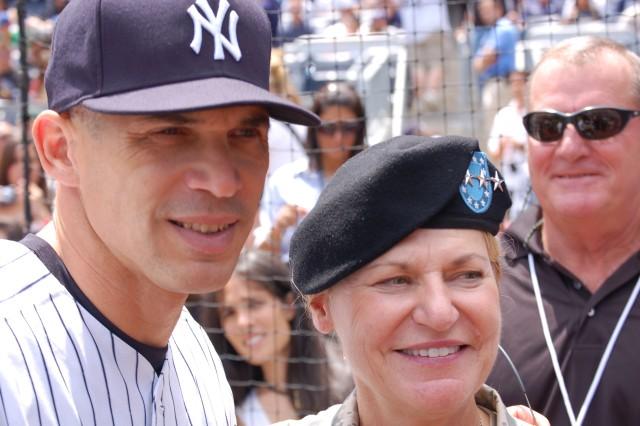 """Dunwoody meets NY Yankees General Manager Joe Girardi."""""""