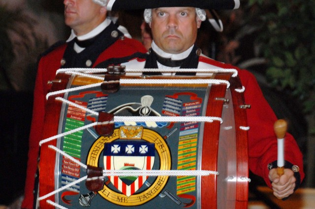 A member of the Old Guard Fife and Drum Corps plays for the audience during the U.S Army's 234th birthday celebration at the Hilton Hawaiian Village June 13.