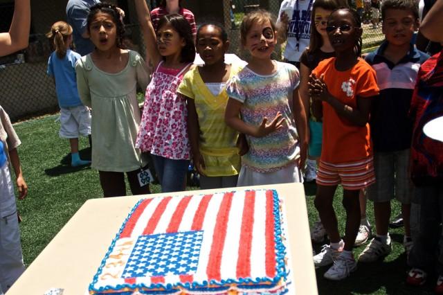 Yongsan children celebrate Army birthday