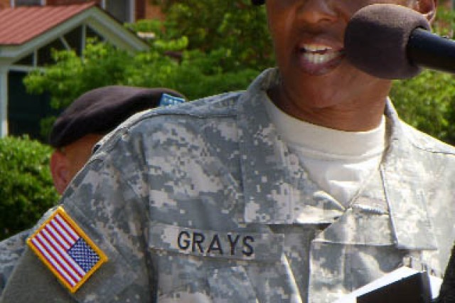 "Aca,!A""AmericaAca,!a,,cs Army, the Soldiers, the Families and our invaluable Army civilians, epitomizes what is best about the United States,Aca,!A? said Col. Deborah B. Grays, Garrison commander, Fort McPherson and Fort Gillem."