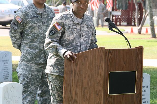Command Sgt. Maj. Howard Riles
