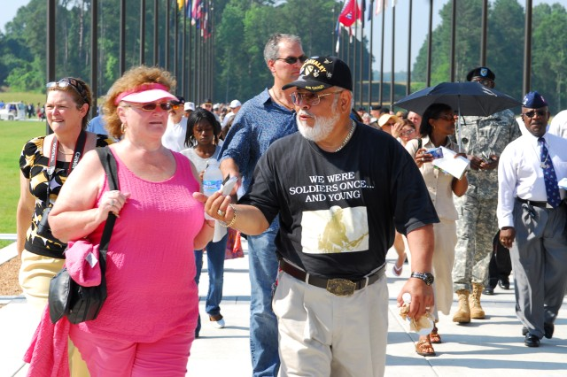 Heritage Walk connects the new graduation field at Patriot Park to the museum grounds. The street features flags from each state and pavers dedicated to Infantrymen and supporters of the military.