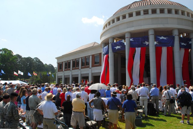 Hundreds gathered for the ribbon-cutting ceremony Friday at the National Infantry Museum. The museum encompasses 190,000 square feet of history dedicated to the Infantry dating back to 1607.