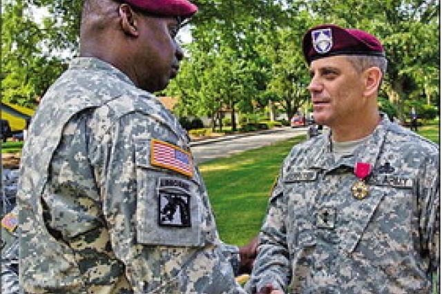 Corps general bids farewell