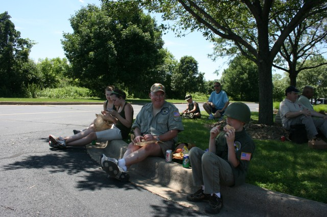 The cross country convoy stopped at Cantigny 20 June 2009 to rest, refuel and share their experiences with the local community near Chicago.  The Convoy is retracing the route of the first major motorized expedition across the United States.