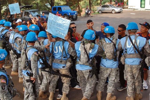 Guam Soldiers train UN mandated peacekeeping skills