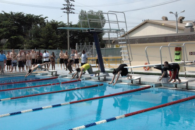 Soldiers compete for individual swimming honors