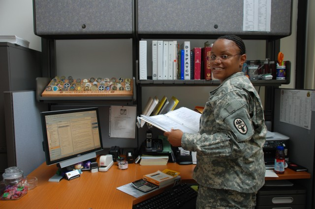 Sgt. 1st Class Terra Williams hopes to retire from the Army and plans to pursue a career in the corporate world.