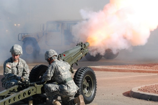 75mm Pack Howitzer during the Ft. Bliss TOA