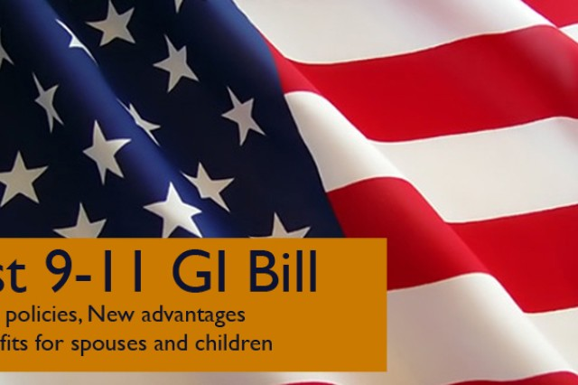 To learn about the benefits of the Post 9-11 GI Bill visit the VA Web site or the garrison education center.