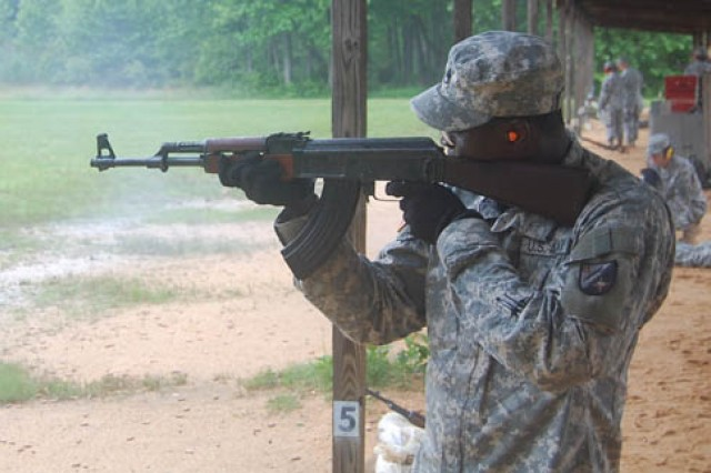 Weapons training becomes 'foreign' experience for 162nd Soldiers