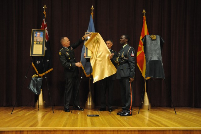 USASMA HoF: unveiling  of a portrait of Sgt. Maj. Herman Bahuma