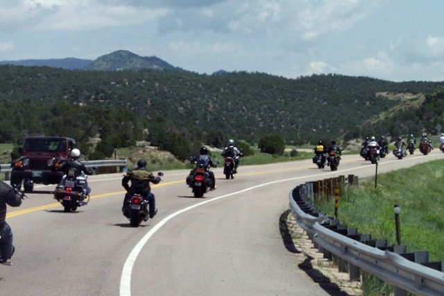 Nearly 40 riders took the scenic route to Turkey Creek, making stops at Woodland Park, Cripple Creek and Canon City along the way.