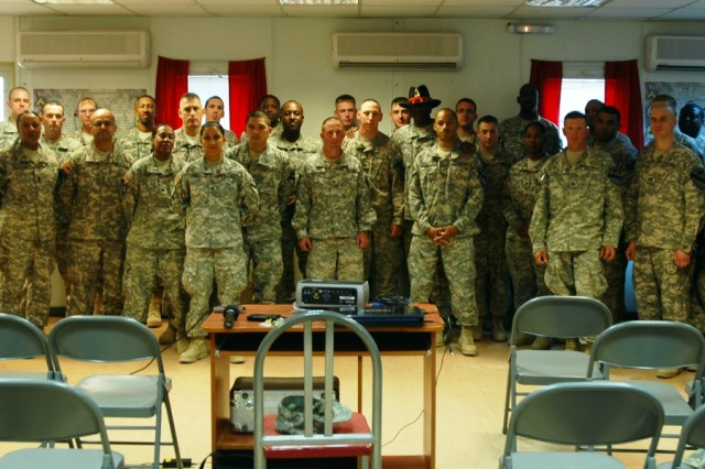 2nd Brigade Combat Team Signal Corps NCOs met at Forward Operating Base Warrior to discuss lessons learned and the future direction of the Signal Corps during sergeants' time training, June 19.