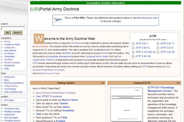 Army announces test of wikis to revise tactics, techniques and procedures