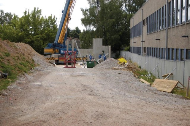 Construction is underway for the new Brussels American School Art Complex located on the USAG Brussels' Sterrebeek Annex. It's expected to be complete in June 2010.