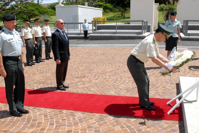 Japan's Chief of Staff lays wreath in honor of fallen Soldiers