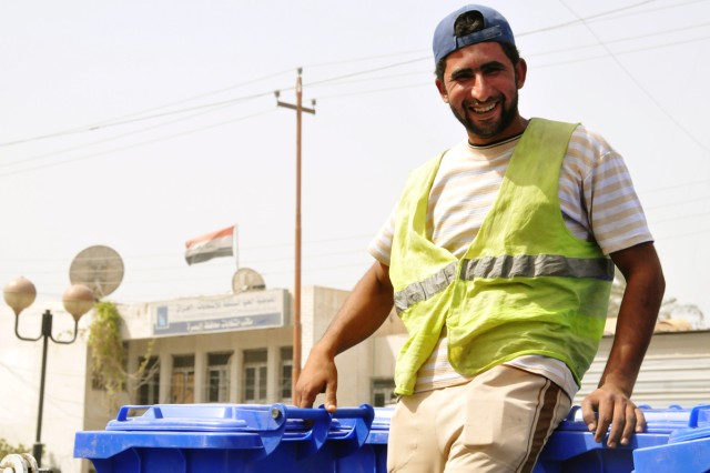 Trash Collection Marks New Era in Iraqi City