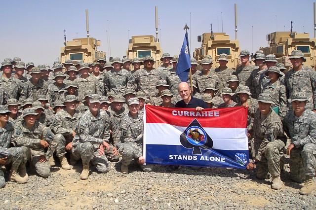 Army Secretary Pete Geren visits troops at Forward Operating Base Ghazni