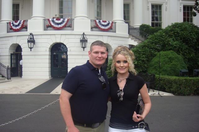 Spc. Matthew K. Ollar (left) and his wife Magdalena traveled to Washington, D.C. to attend a July 4th celebration at the White House as guests of President Barack and Michelle Obama.