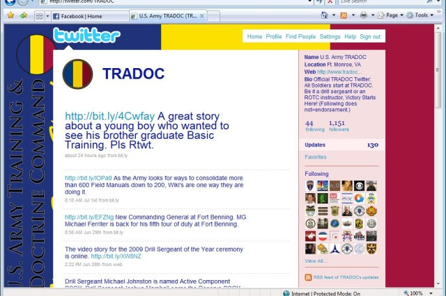 TRADOC Twitter page