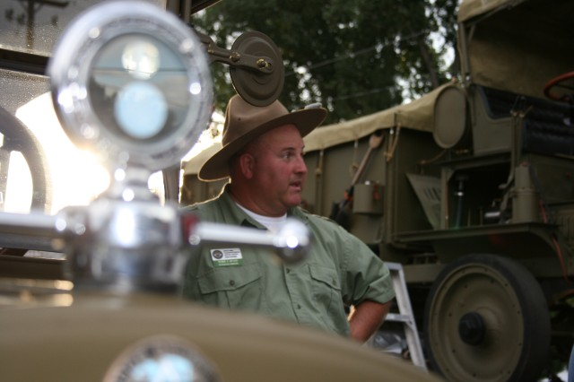 The MVPA Convoy stopped briefly July 1, in Utah, at Murray City Park on their way to San Francisco, Calif. Many onlookers came out to see the military vehicles driven from Washington, D.C., and talked with the drivers about their vehicles.