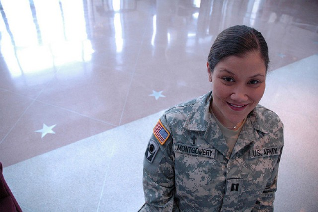 Chaplain (Capt.) Rebekah Montgomery of the Army National Guard will be recognized as the Military Chaplain Association's Chaplain of the Year, July 17.