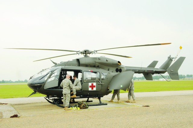 Fort Rucker Soldiers unpack new UH-72A Lakota
