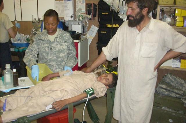 Nuristan PRT treats Afghan snake-bite victim