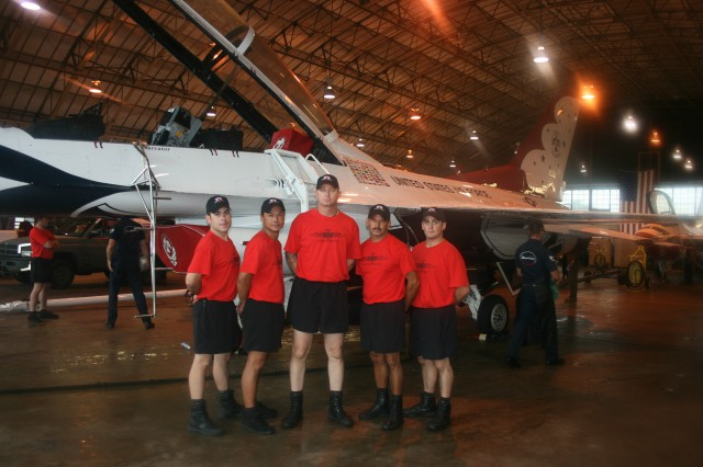 The Black Daggers at the Army National Guard Armory before the Prairie Air show in Peoria, IL.