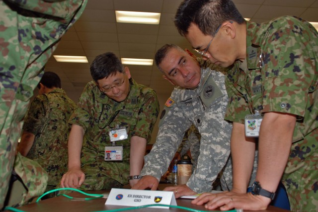 FORT SHAFTER, Hawaii- U.S. and Japanese Armies worked as one team in planning the upcoming Yama Sakura 56 exercise.