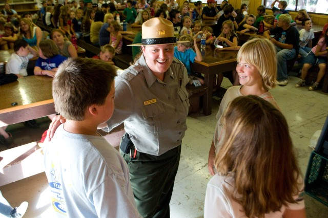 Black Butte Lake park ranger teaches water safety to Operation Military Kids campers