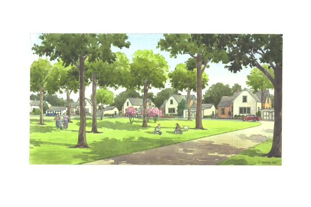 An artist rendering of Gerber Village after renovations are complete.