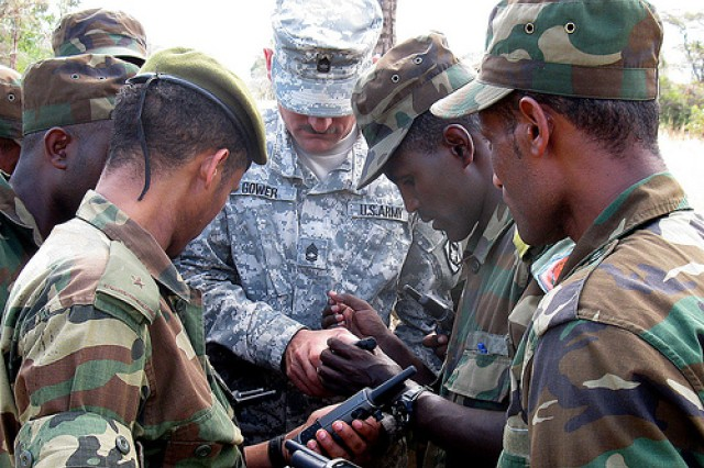 U.S. Army Africa, U.S. Africa Command NCOs mentor Ethiopian soldiers