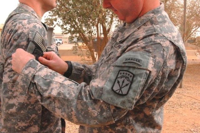 Fort Lewis' 80th Ordnance Battalion Receives Combat Patch